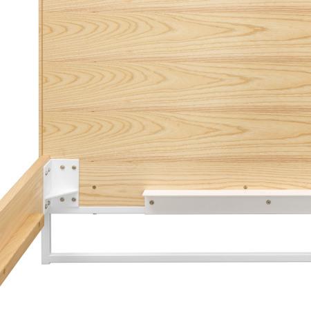 全金属床腿与排骨架支撑件一体成型,承重力极佳,保证床体稳固牢靠