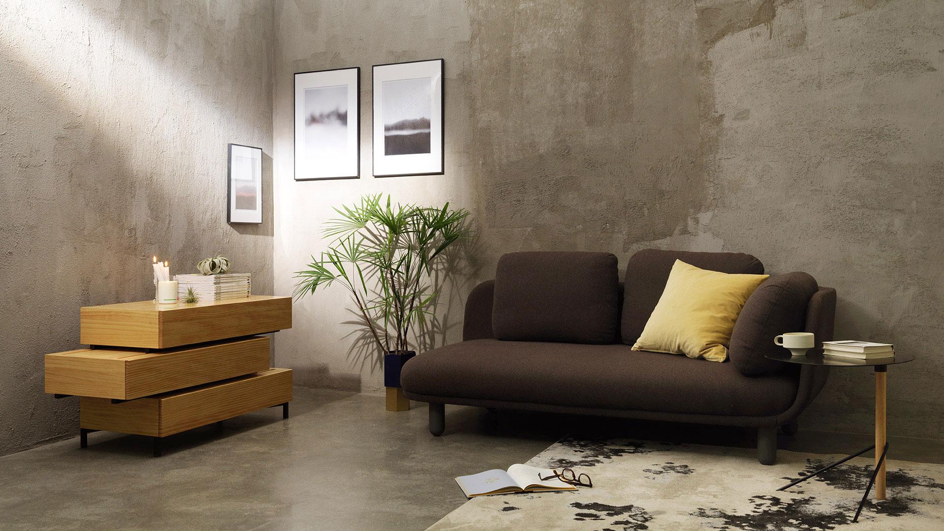 在客厅等空间里单独靠边使用,撑起空间基本体量,用最简洁的实木线条,营造出现代禅意的东方美感。