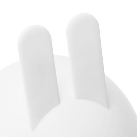 竖起的尖尖兔耳以卡扣及胶粘方式牢牢固定,同时兼具稳固性和安全性