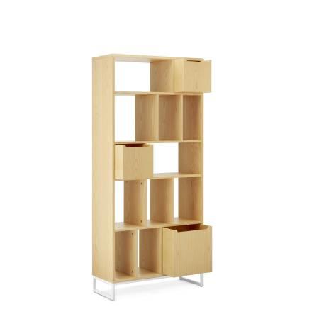 书架与储物盒推荐组合1:0.8米书架+1个大盒+2个小盒