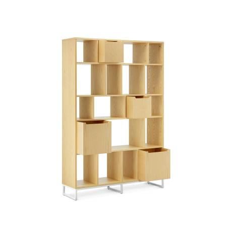 书架与储物盒推荐组合2:1.2米书架+2个大盒+2个小盒