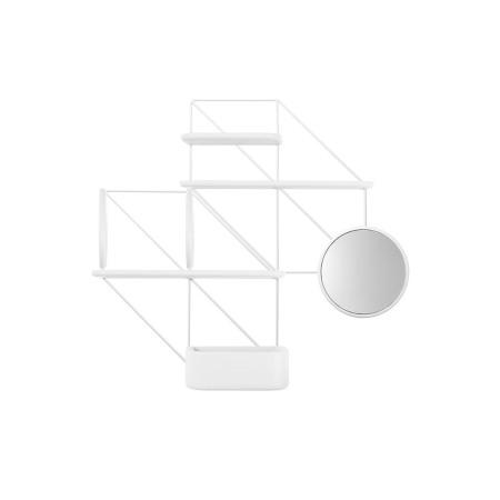 推荐组合1:2金属架+2圆隔板+2长隔板+1短隔板+1喇叭镜+1储物盒