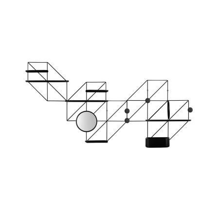推荐组合6:5金属架+4挂钩+3短板+3长板+1圆隔板+1喇叭镜+1储物盒