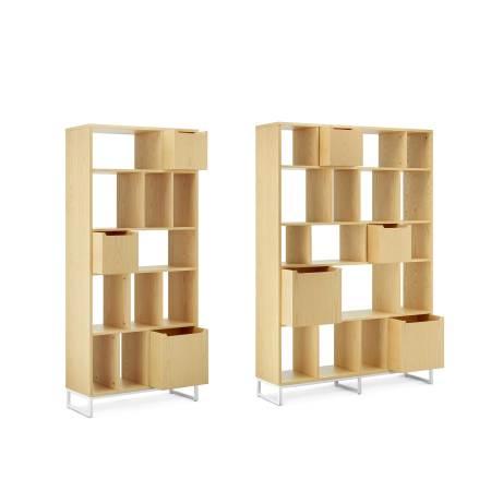 书架与储物盒推荐组合3:0.8米书架+1.2米书架+3个大盒+3个小盒