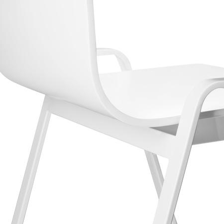 L形木身采用改良聚氨酯漆,A形金属腿采用环氧树脂粉末喷涂,优雅的闭合哑光漆面