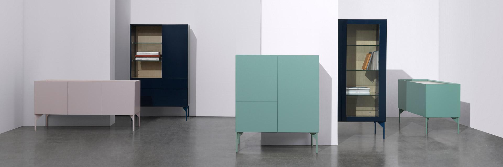 """Jonas Wagell""""丰盛的简约""""的设计语言,赋予造作当家柜体""""瓦格系列""""斯堪的纳维亚的现代格调,5态变化,4种百搭中性色,2种版本可选,让低调优美铺满全家。"""