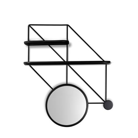 推荐组合:金属架+短搁板+长搁板+喇叭镜+挂钩
