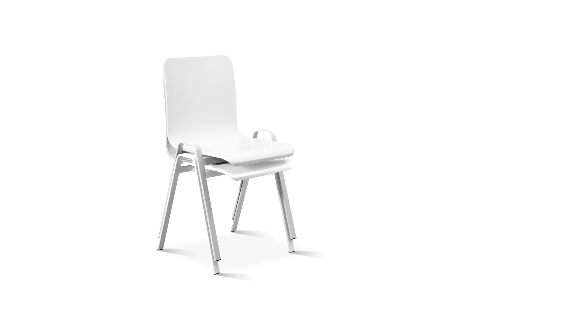 A字形椅腿,采用空心铁管弯折工艺,内角度精准控制在108°,上紧下松的布局,轻松叠摞收纳,椅座底面搭配有4个防护套,保证多把叠摞不划伤。