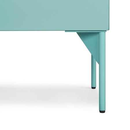 纤细优美的圆钢柜腿,全哑光精致喷粉加工工艺,颜色和柜体保持优雅一致