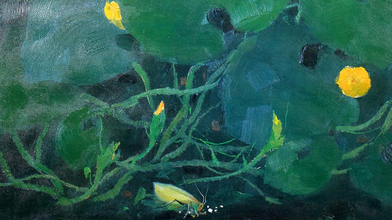 吴冠中系列版画 | 自然,色彩斑斓的一花一木,将丰富细腻性与艺术精神、审美理想融合到一起。