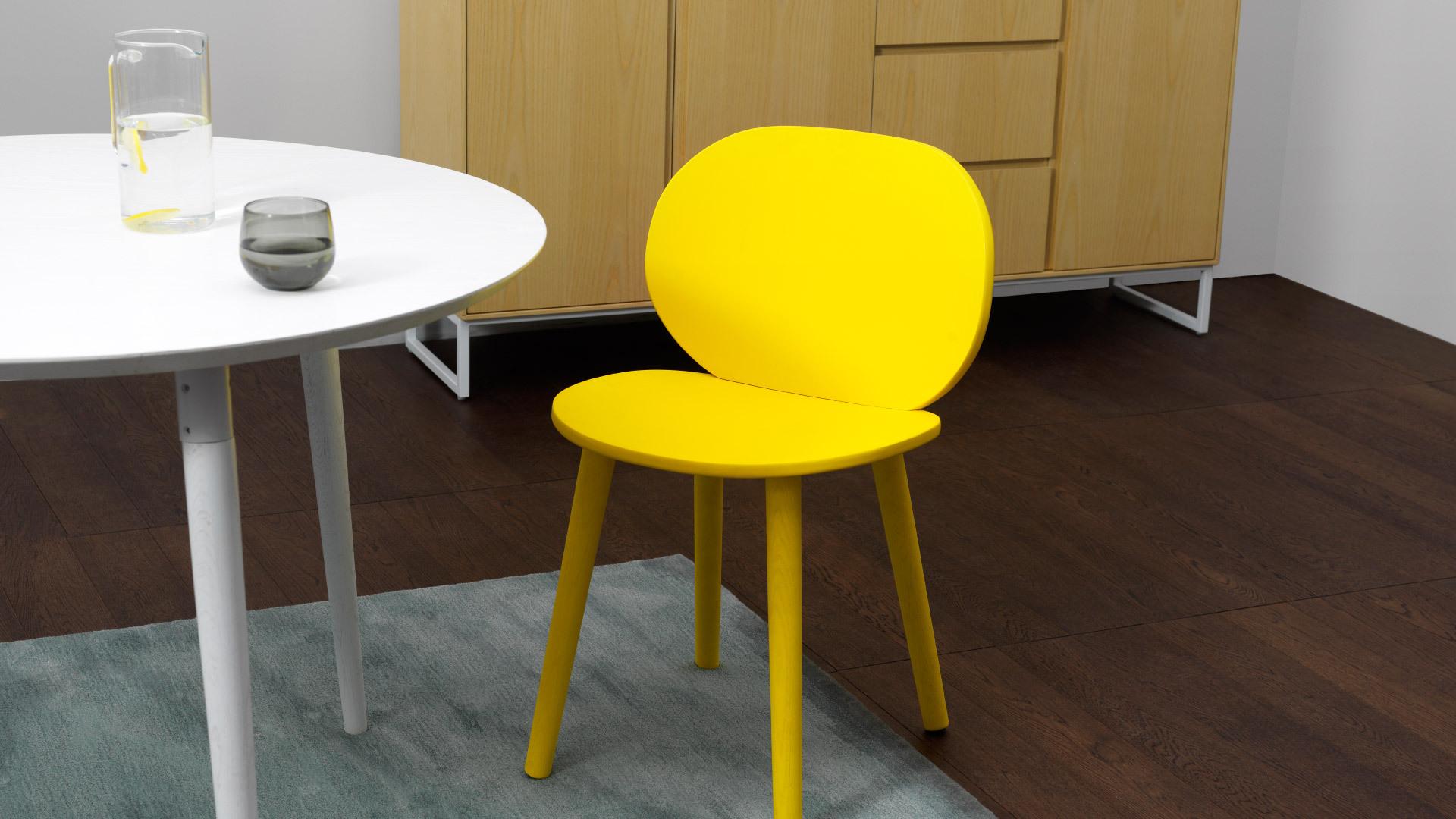 鲜亮柠黄,一椅提亮全空间