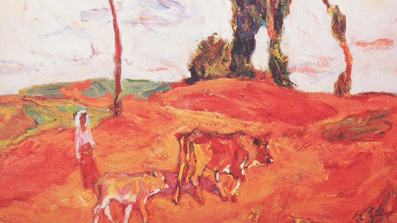 罗尔纯系列版画 | 风景,将对自然与生活的热爱,转化为火焰般的笔触和灿烂色彩。