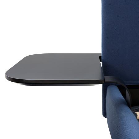 床头茶几板通过弧度支架与床体螺杆连接,稳固牢靠,最大可承重为2kg,亦可根据空间大小,自由选择是否安装使用