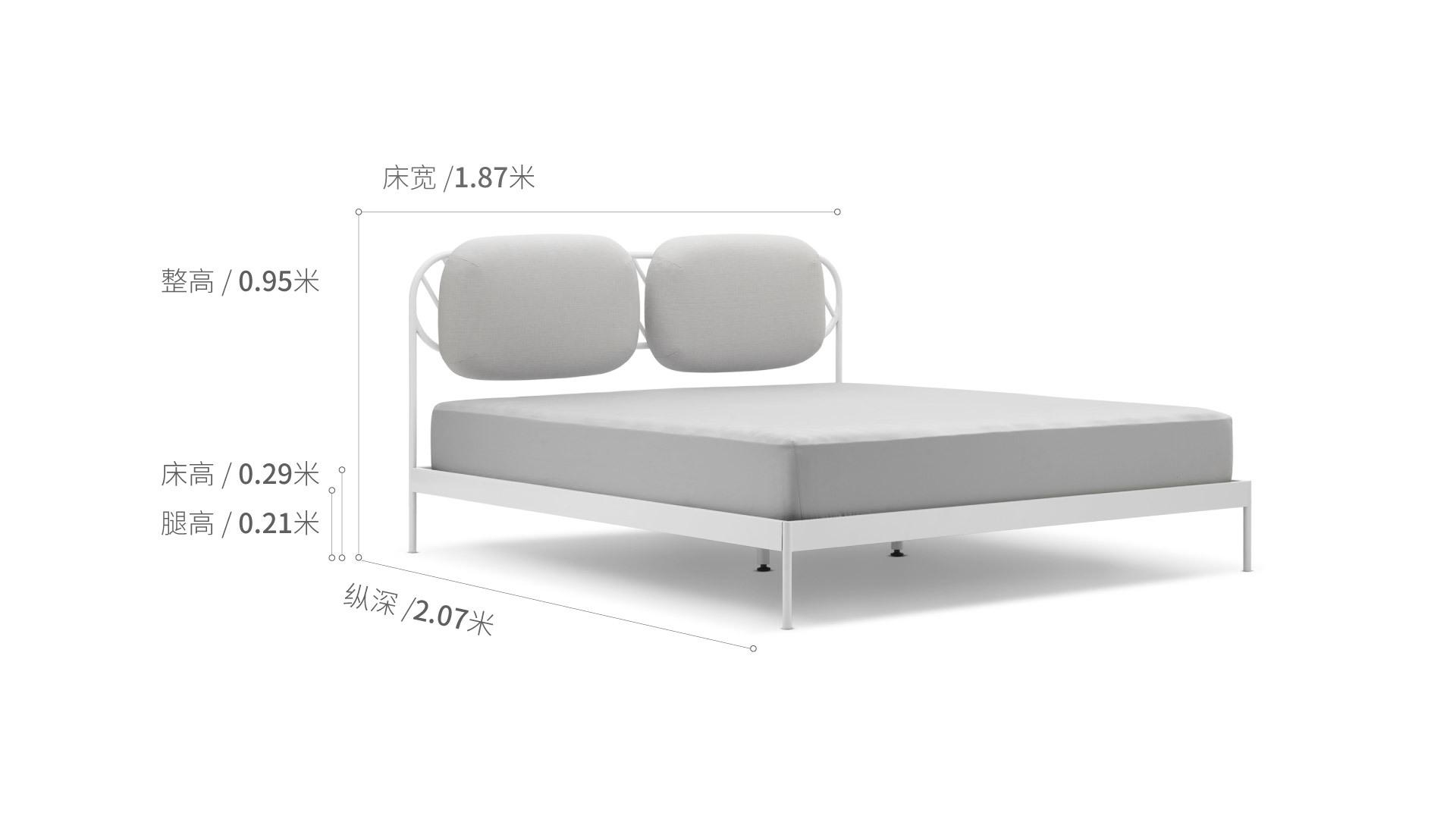 奶糖床1.8米款床·床具效果圖