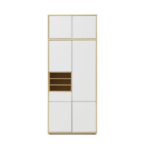 青山衣柜-两门(有顶柜)+层板盒