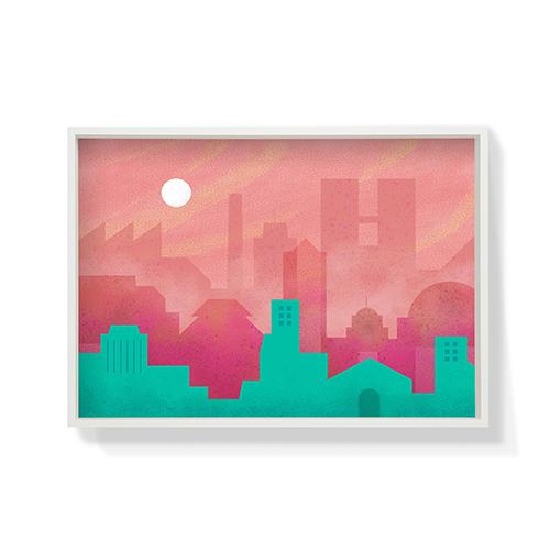 作画-城市系列图案1大号装饰效果图