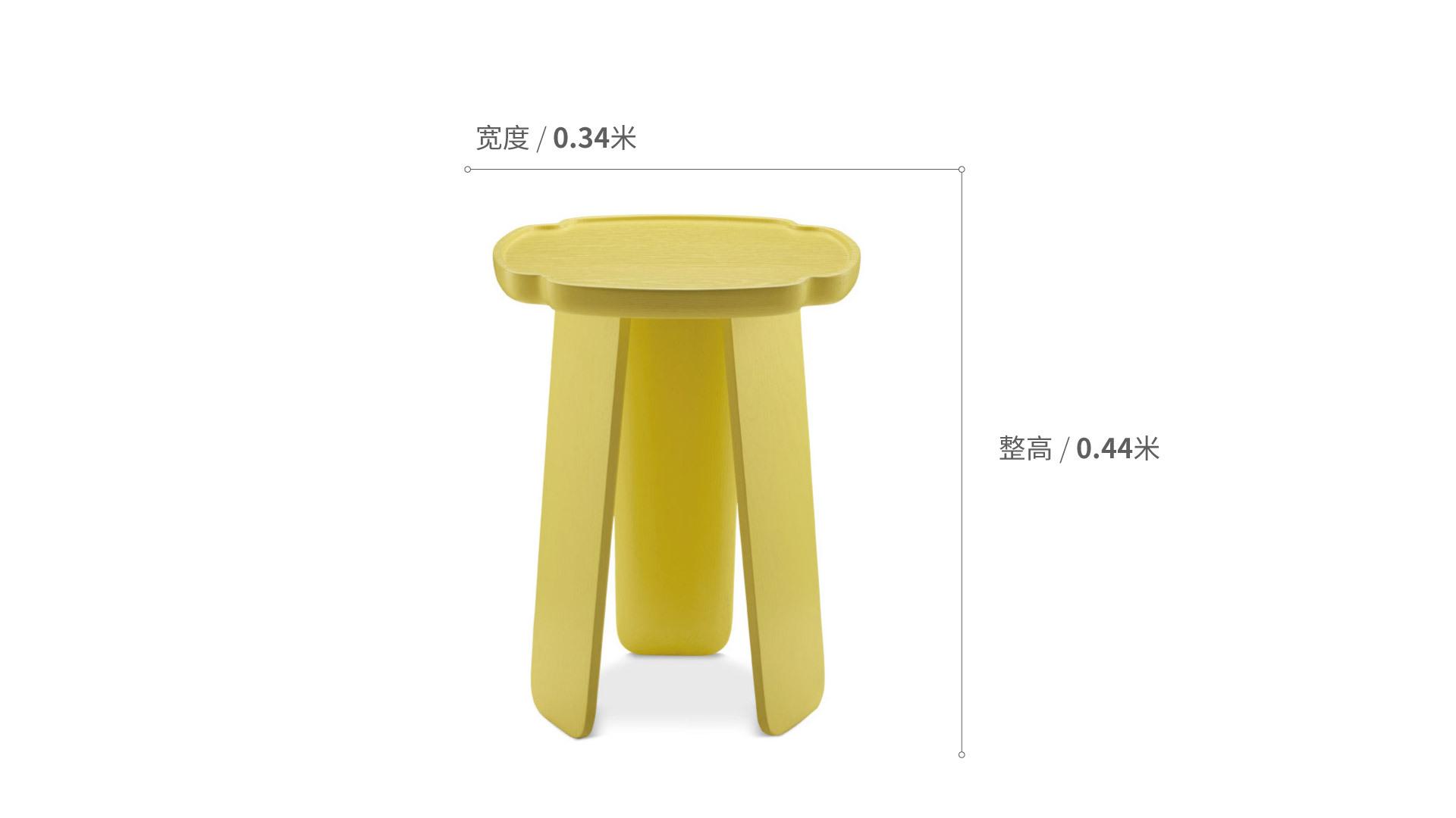 造作花间实木小桌™高桌(四叶款)柜架效果图
