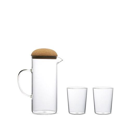 蘑菇高硼硅水壶套装餐具