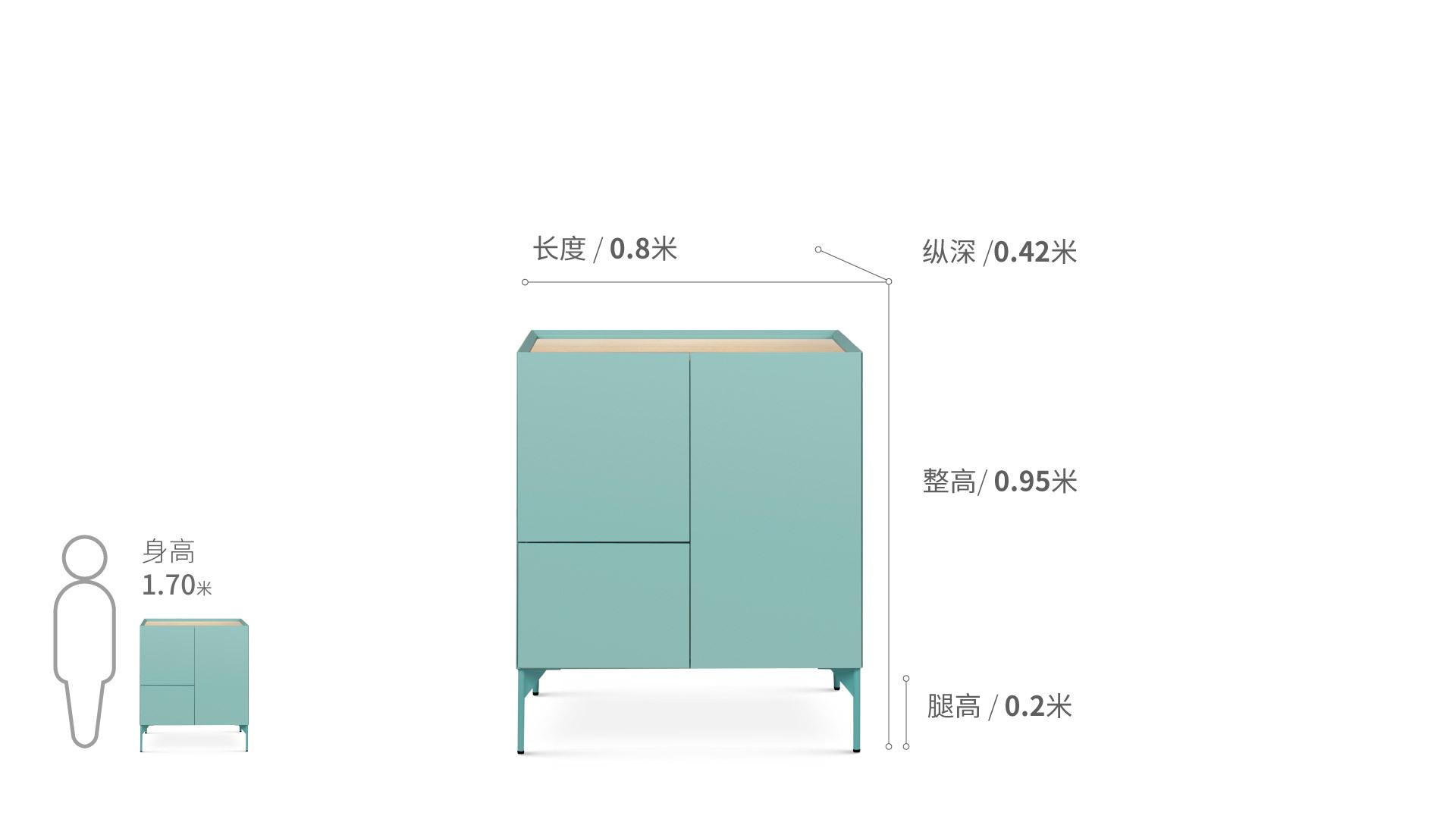 瓦格-中高柜柜架效果图