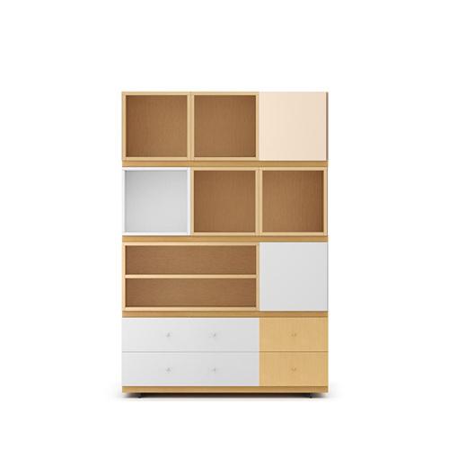 COSMO星格™书柜1.2米宽书柜B款柜架效果图