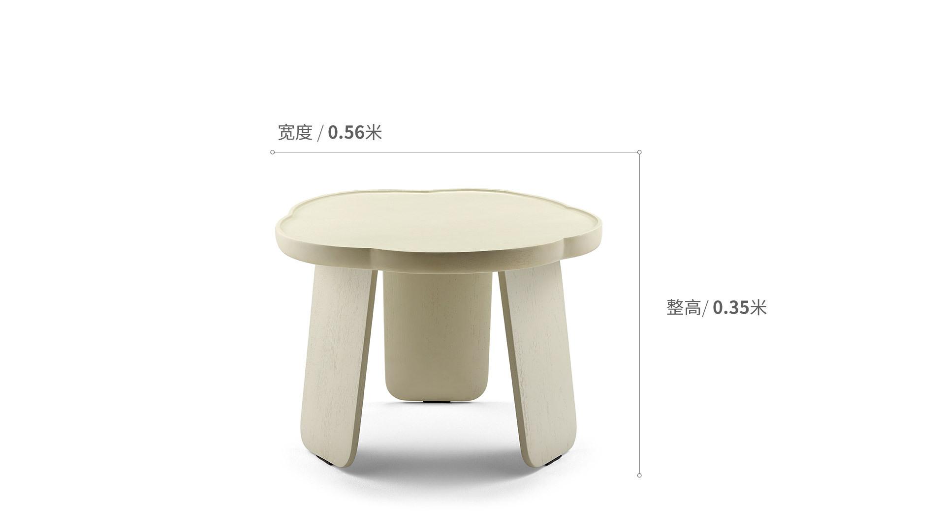 造作花間實木小桌?矮桌(五葉款)桌幾效果圖