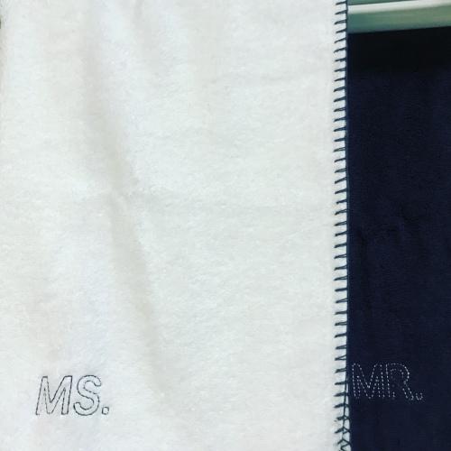 Rita_Couple毛巾组MR.MS.面巾套装(灰白各1条)怎么样_1