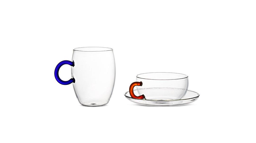 心情高硼硅指环杯马克杯套装(红蓝各1只)餐具