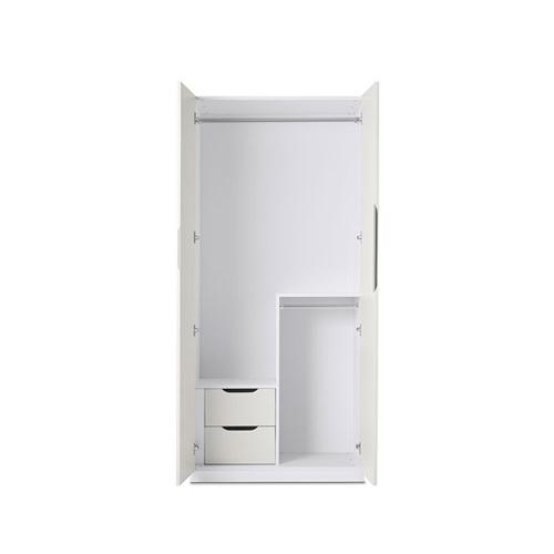 贡多拉两门衣柜B款柜架效果图