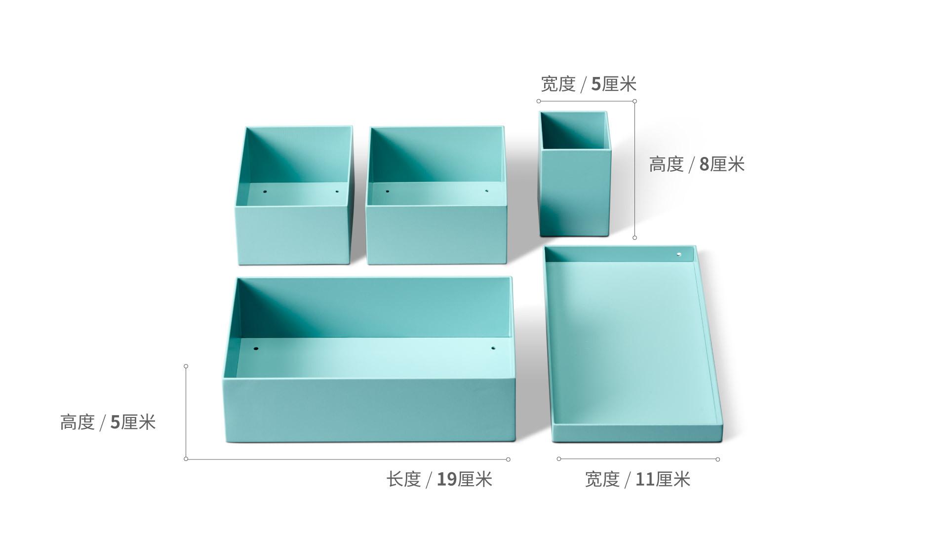 积木桌面收纳5件套升级版装饰效果图