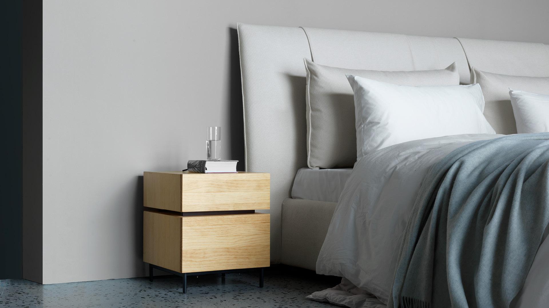 天然木色,中和臥室冷調