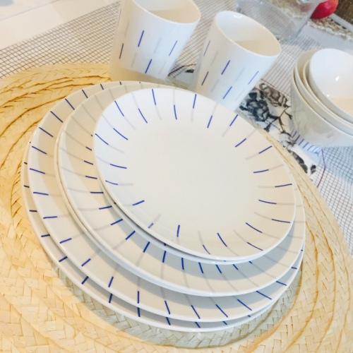 柚子琪_镜线西班牙瓷土餐具组怎么样_2