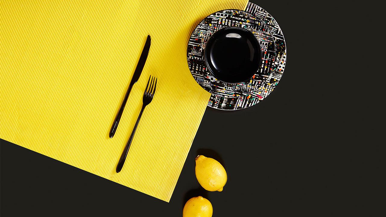 线面交叠,彩点击节。大师之作的魅力此般完满呈现于餐桌之上。
