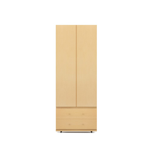 COSMO星格™衣柜·斗柜2.1米高2门衣柜E柜架效果图