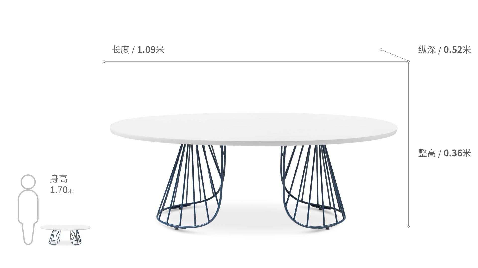 造作蝴蝶茶几™单层桌几效果图