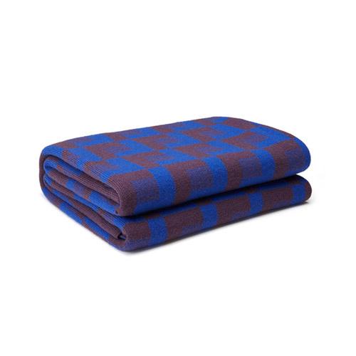 霓虹澳洲羊毛提花针织毯家纺