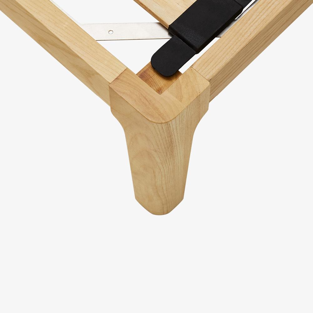 进口白蜡木<br/>可调节圆角床腿