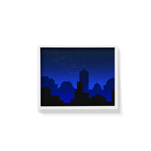 作画-城市系列图案2小号装饰效果图