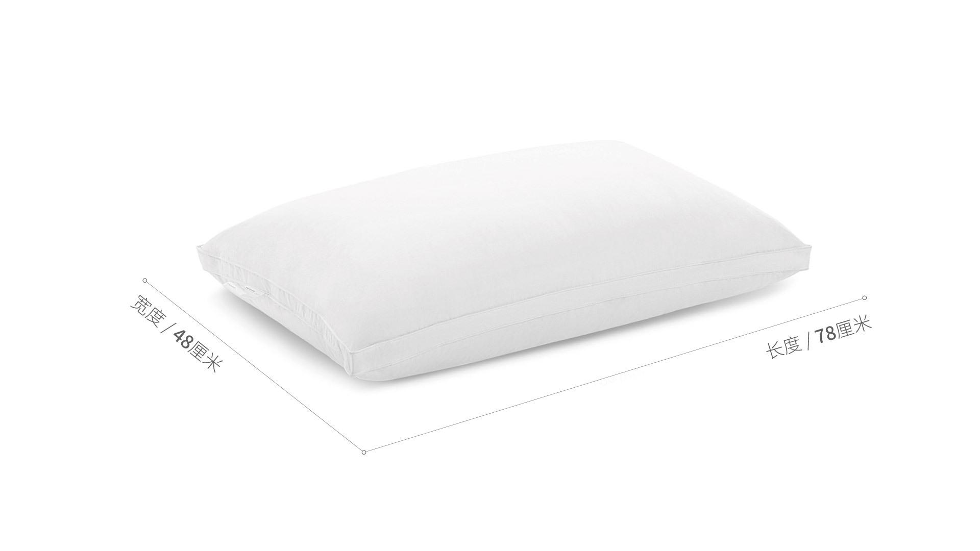 造作有眠白鸭绒轻羽枕芯™软枕床·床具效果图