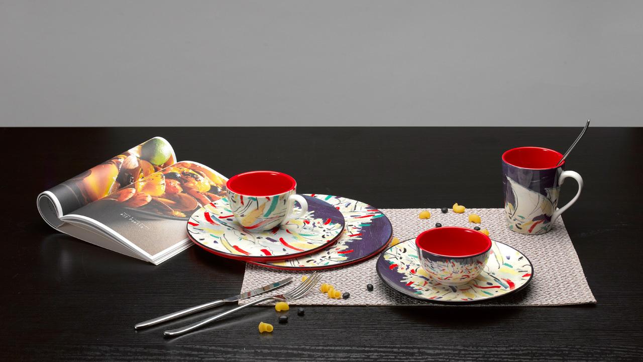 吴冠中系列纹样餐具 | 印尼舟群