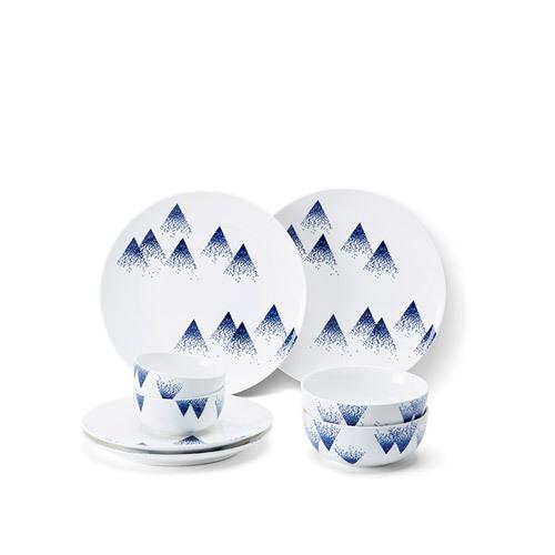 细雪青花瓷8/12件餐具组餐具