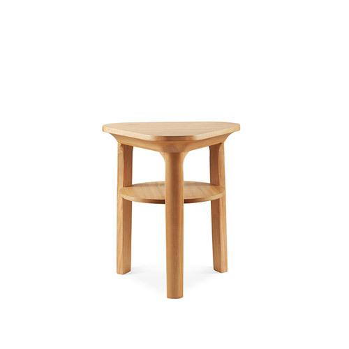 瓦檐边桌®三角形边桌柜架效果图