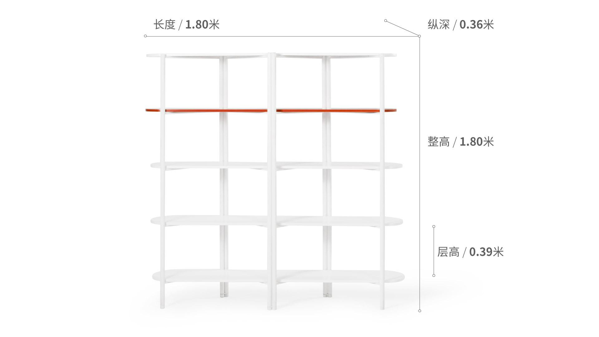冲浪板置物架五层1.8米版柜架效果图