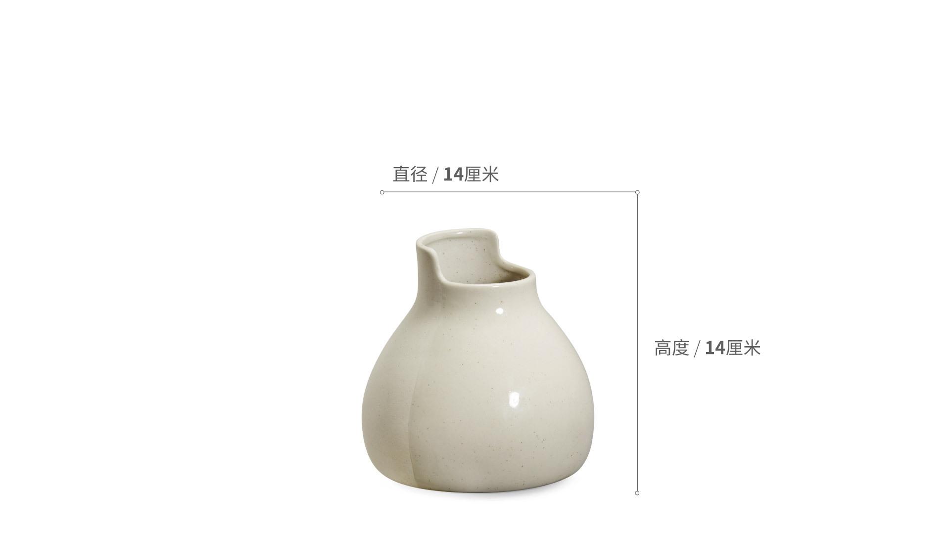 双生陶瓷花瓶小瓶装饰效果图