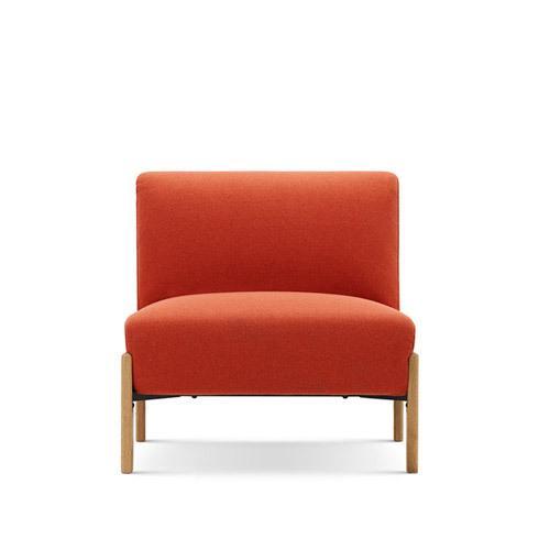 飞鸟沙发无扶手单人座沙发效果图