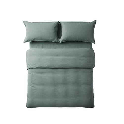 香草棉麻色织4件套床品1.8米床·床具效果图