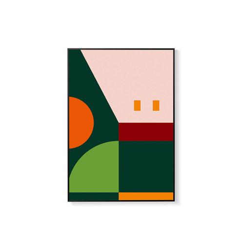 造画-猪猪系列2带画框装饰效果图