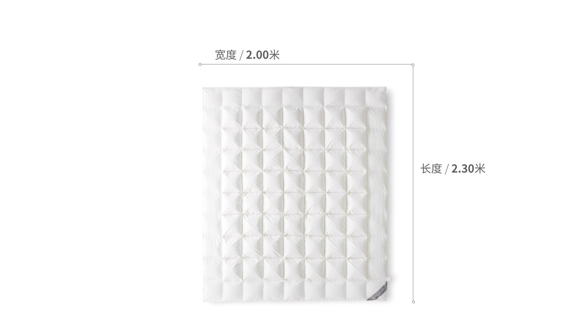 造作有眠极暖白鹅大绒被芯®1.5米床床·床具效果图