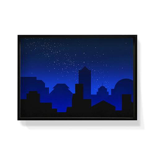作画-城市系列图案2大号装饰效果图