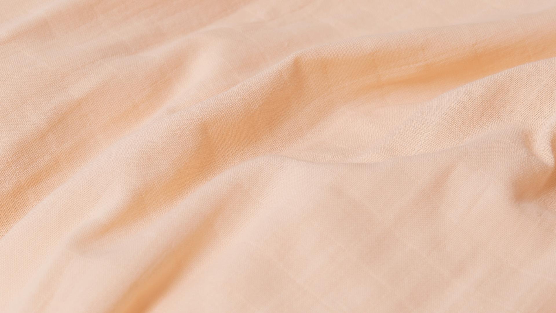 100%纯棉双层纱织,透气散热,越洗越蓬