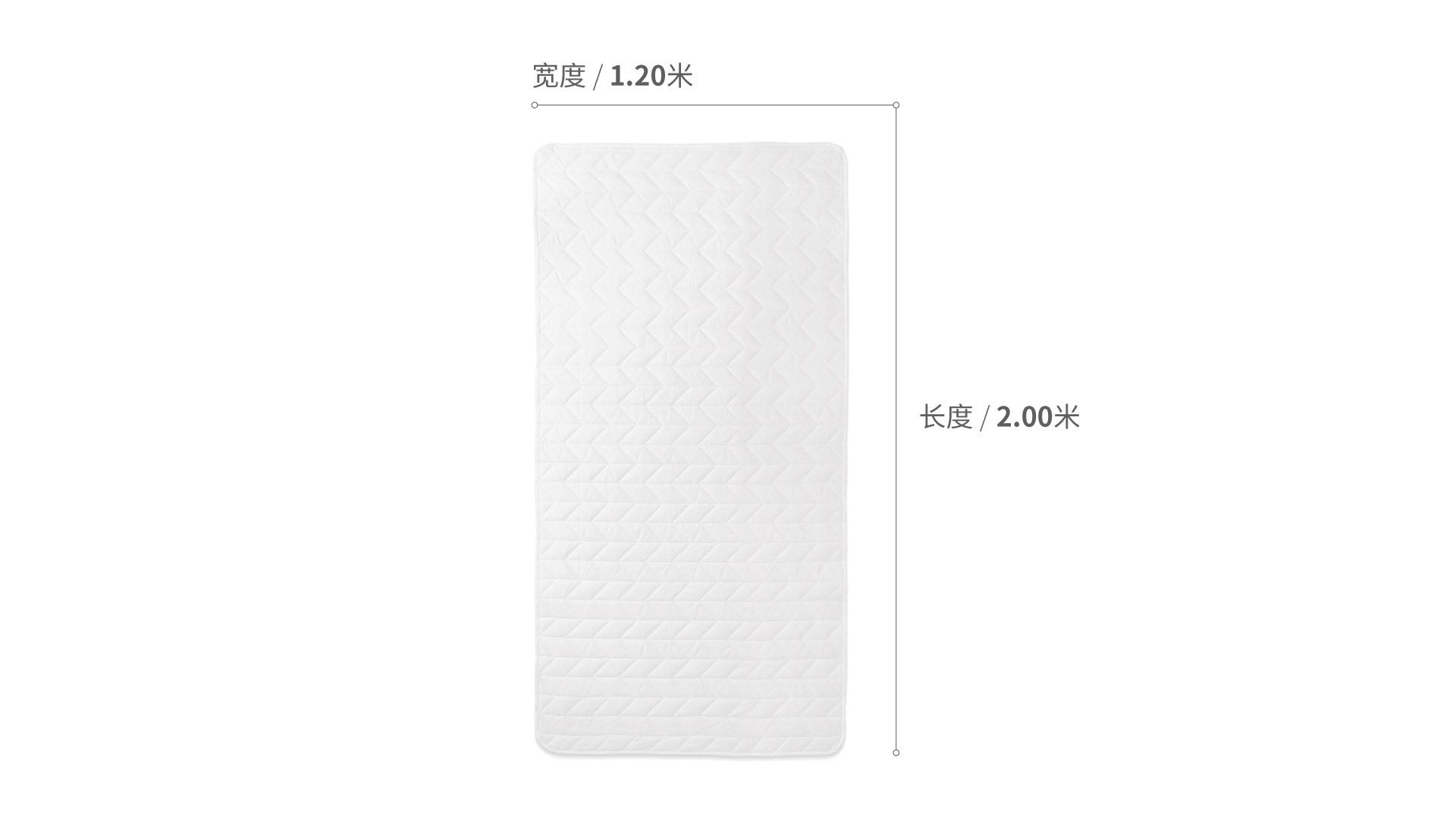 造作有眠羽丝绒柔纤床褥™1.2米床床·床具效果图
